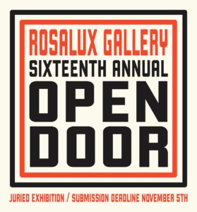 Rosalux Open Door Exhibition Submission November 5th