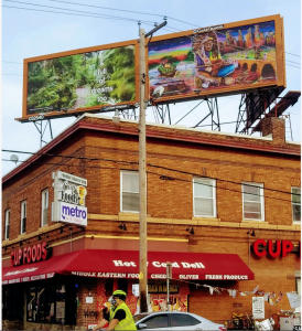 The Social Justice Billboard Project and NE SCULPTURE